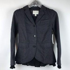 Hinge Grey Pink Herringbone 3 Button Blazer Jacket